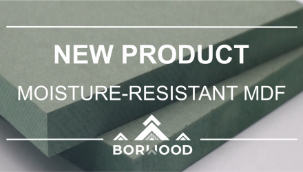 MOISTURE-RESISTANT MDF IS A NEW PRODUCT IN THE ASSORTMENT OF BORWOOD HOLDING