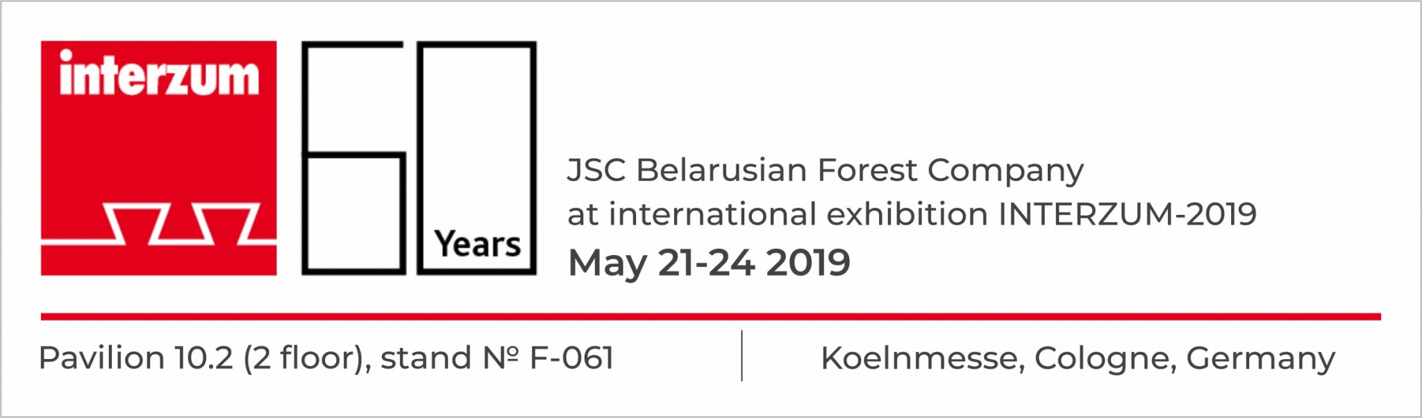 JSC Belarusian Forest Company at Interzum-2019 in Germany